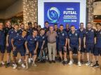 Clovis Tramontina recepciona atletas da Seleção Brasileira de Futsal em Carlos Barbosa Créditos: Yuri Gomes/CBFS/Divulgação