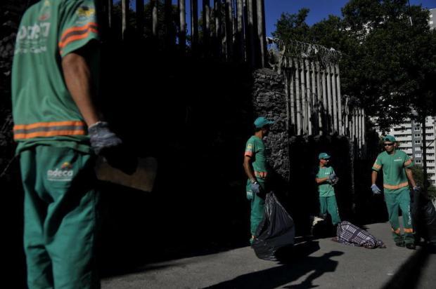 Cracolândia, na Rua Borges de Medeiros, em Caxias, é alvo de operação de limpeza Lucas Amorelli/Agencia RBS