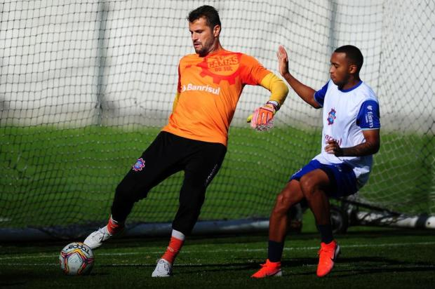 """""""Sempre acreditei que poderíamos chegar entre os primeiros"""", diz goleiro do Caxias Porthus Junior/Agencia RBS"""