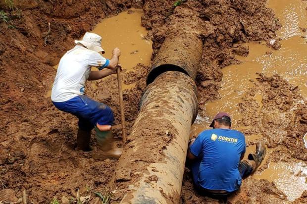 Bombeamento do Sistema Faxinal, em Caxias, está funcionando parcialmente Idair Moschen/Divulgação