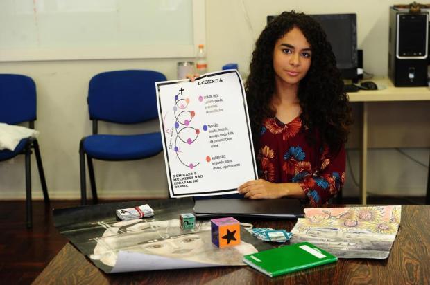 Idealizadora de um projeto sensacional, Raylyne representará estudantes de Caxias em POA Porthus Junior/Agencia RBS