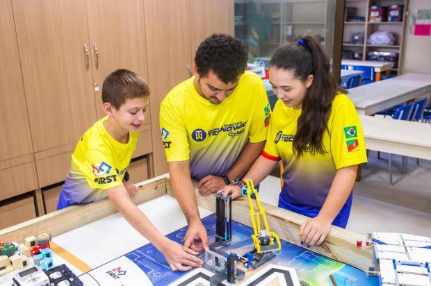 Alunos de escola de Caxias do Sul apresentam projeto para cidades inteligentes Fabiano Scholl/Divulgação