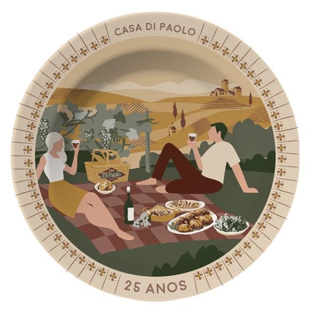 Conheça a arte vencedora do concurso Prato Cheio de Alegria, da DiPaolo Reprodução/