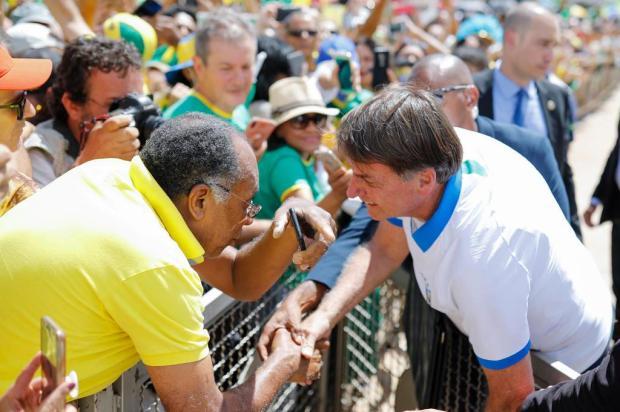 Em meio à crise do coronavírus, presidente da República tem apoio de lideranças de Caxias Sergio LIMA/AFP