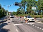 Com ruas vazias, Gramado tem barreiras de orientação da Guarda Municipal para evitar acesso e conter circulação de turistas Guarda Municipal de Gramado/Divulgação