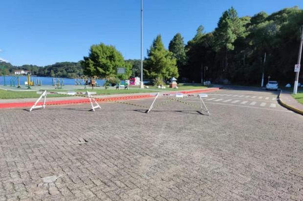 Prefeitura de São Francisco de Paula restringe acesso ao Lago São Bernardo durante pandemia Prefeitura de São Francisco de Paula/Divulgação