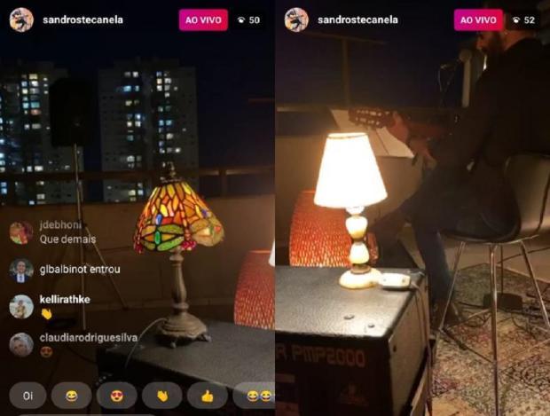 Do terraço de seu prédio, músico caxiense entretém público com MPB Instagram / Reprodução/Reprodução