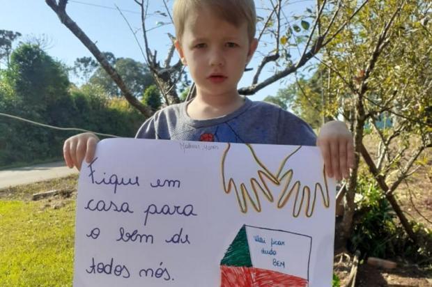 Alunos de Fagundes Varela espalham mensagens positivas em rede social para combater coronavírus Arquivo Pessoal/Facebook/Escola Caminhos do Aprender