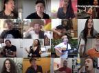 """VÍDEO: artistas de Carlos Barbosa gravam mensagem de otimismo na canção """"Quero te ver de novo"""" Reprodução/Reprodução"""