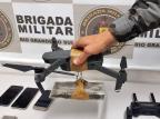 Brigada Militar impede entrega de drogas com drone no presídio do Apanhador em Caxias Brigada Militar/Divulgação