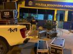 Aparelhos de som e luz avaliados em mais de R$ 20 mil são apreendidos na BR-470 em Bento Gonçalves Polícia Rodoviária Federal/PRF