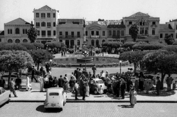 A chegada da Romi-Isetta aCaxias em 1958 Studio Geremia,Arquivo Histórico Municipal João Spadari Adami/Divulgação