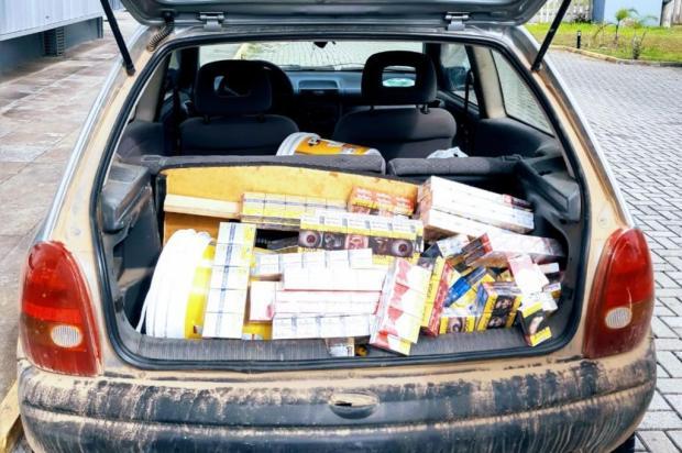 BM recupera carga de cigarros avaliada em R$ 25 mil, em Caxias do Sul Brigada Militar/Divulgação