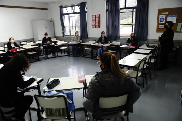 Professores municipais de Caxias voltam às salas de aula Porthus Junior/Agencia RBS
