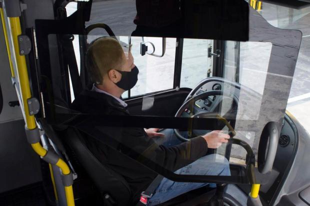 Marcopolo testa divisórias de proteção em ônibus da Visate Marcopolo/Divulgação