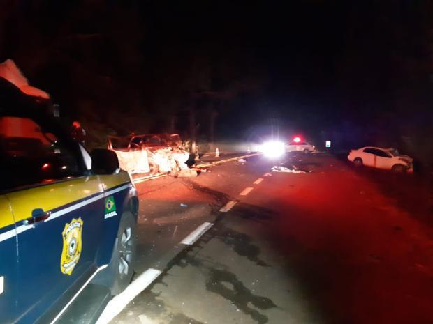 Três pessoas morrem em acidente na BR-116 em Vacaria Polícia Rodoviária Federal / Divulgação/Divulgação