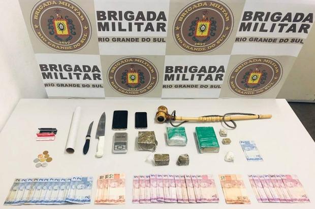 Jovem é preso por tráfico de drogas em Caxias Brigada Militar/Divulgação