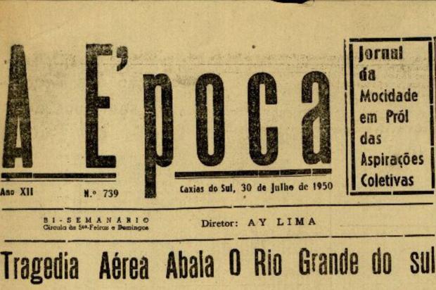 Vítimas de Caxias no acidente aéreo no Morro do Chapéu em 1950 Reprodução/