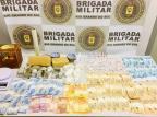 Operação da Brigada Militar prende quatro pessoas e apreende drogas e dinheiro em Caxias Brigada Militar/Divulgação