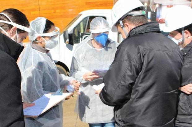Obra é interditada após funcionários testarem positivo para Covid-19 em Gramado Carlos Borges/Divulgação