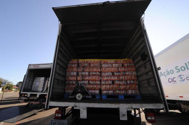 CIC de Caxias entrega 130 toneladas de alimentos para distribuição a famílias necessitadas Marcelo Casagrande/Agencia RBS