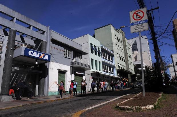 Caixa tem avaliação positiva do processo de pagamento do auxílio emergencial em Caxias Marcelo Casagrande/Agencia RBS