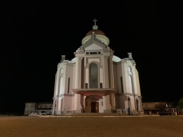 Dia de Caravaggio tem frio, céu nublado e santuário vazio em Farroupilha André Fiedler / Agência RBS/Agência RBS