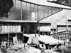 Construção do ginásio Pedro Carneiro Pereira em 1973 Jornal Pioneiro/Reprodução