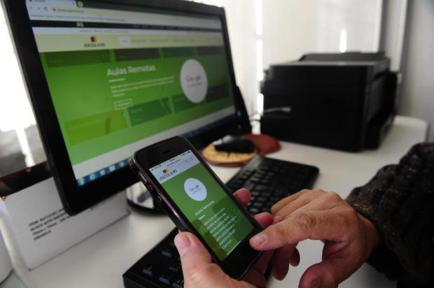 Escolas estaduais começam adaptação à plataforma virtual durante o mês de junho Porthus Junior/Agencia RBS