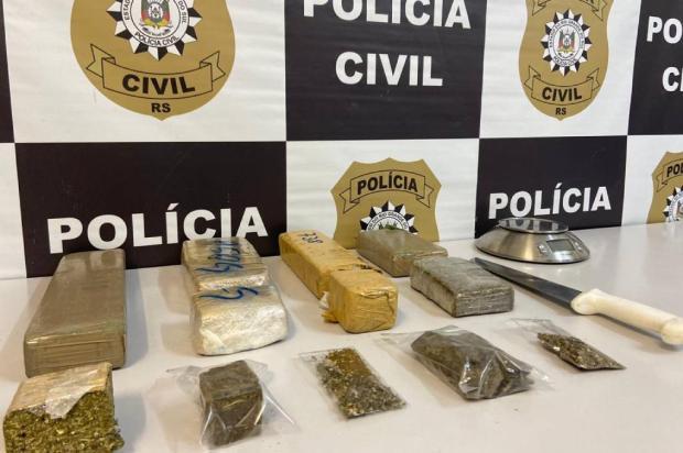 Quatro quilos de drogas são apreendidos em esconderijo do tráfico em Caxias do Sul Polícia Civil / Divulgação/Divulgação
