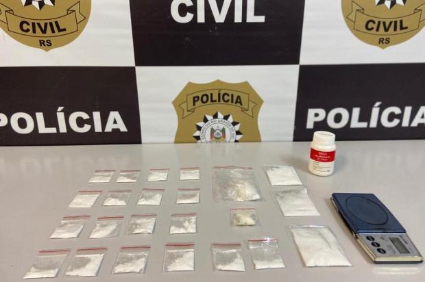 Homem é preso com cocaína no bairro Fátima, em Caxias do Sul Polícia Civil/Divulgação