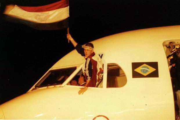 Capitão em 2000 recorda cena marcante de título com o Caxias Gilmar Gomes/Agencia RBS