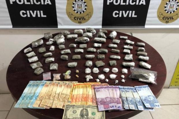 Motociclista é preso ao sair para entregar drogas em Gramado Polícia Civil / Divulgação/Divulgação