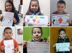 Estudantes de escola de Caxias mandam mensagens de apoio a profissionais de saúde Companhia do Carinho / Divulgação/Divulgação