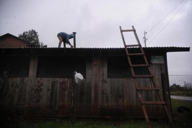 Estragos no bairro São Francisco, em Vacaria, resumem a passagem do ciclone pela região Marcelo Casagrande/Agencia RBS