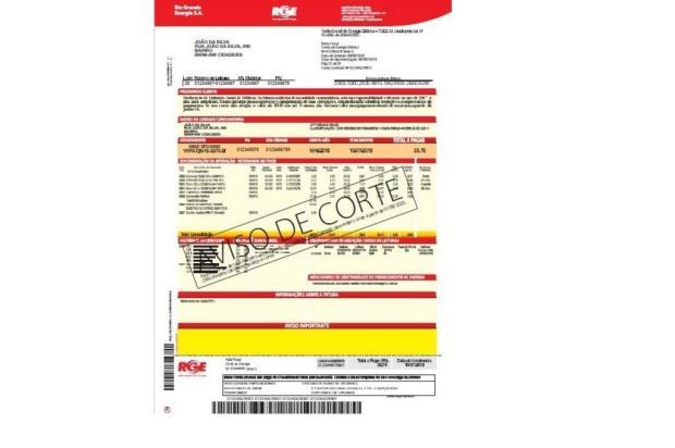 Clientes da RGE em Caxias do Sul relatam suspeita de contas falsas RGE/Divulgação