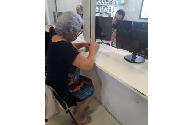 Morador de Caxias registra funcionários de setor da Secretaria de Saúde atendendo sem máscara Jary Pütten / Arquivo Pessoal/Arquivo Pessoal