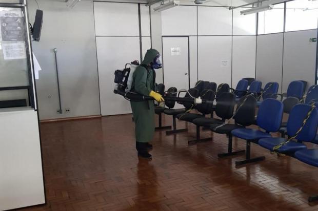 Unidades de saúde passam por desinfecção em Caxias Andréia Copini/Divulgação Prefeitura Caxias