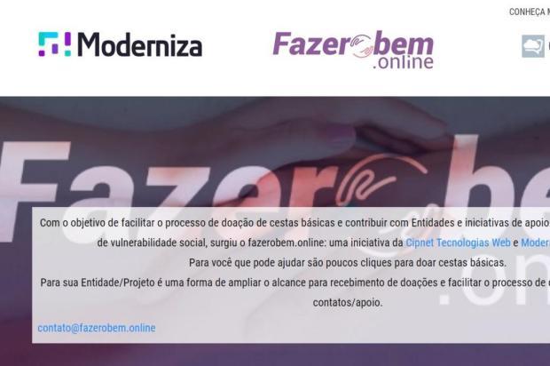 Empresas de Caxias lançam loja virtual para doações Reprodução/Divulgação