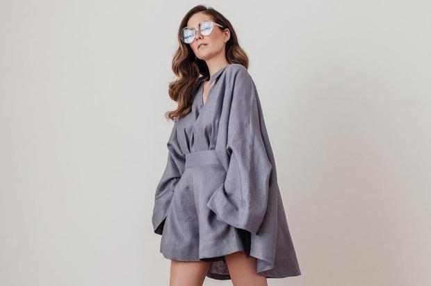 Casamentos adiados dão espaço para estilista caxiense criar nova coleção em linho Ale Pinho/Divulgação