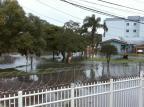 Alagamento no bairro Interlagos invade garagem de moradora, em Caxias do Sul Secretaria de Obras/Divulgação