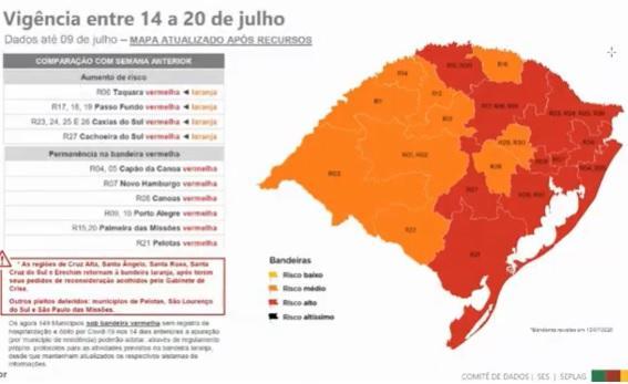 Governo do Estado confirma Serra Gaúcha na bandeira vermelha /