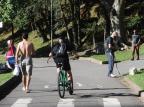 Caxienses aproveitam o domingo ensolarado para passear e praticar exercícios ao ar livre Antonio Valiente/Agencia RBS