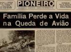 Um acidente de avião que abalou o bairro São Ciro, em Caxias, em 1974 Jornal Pioneiro/Reprodução