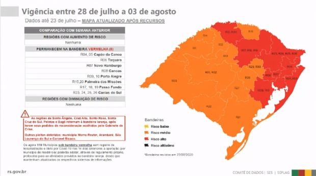 Governo do Estado vê situação preocupante na Serra Gaúcha e mantém bandeira vermelha Governo do Estado / Divulgação/Divulgação