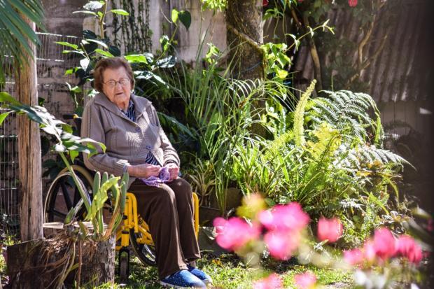 Prestes a completar 100 anos, moradora mais velha de Nova Roma do Sul se recupera da covid-19 Júnior Lodi / Divulgação/Divulgação