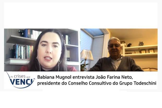 As crises que venci: acompanhe entrevista com João Farina Neto YouTube Pioneiro / Reprodução/Reprodução