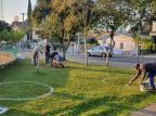 Espaços são demarcados em praça movimentada de Bento Gonçalves Rodrigo Ferri Parisotto/Divulgação