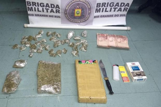 Homem é preso com mais de um quilo de maconha em Bento Gonçalves Brigada Militar/Divulgação