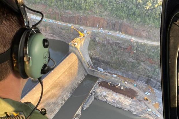 Duas propriedades são interditadas pela Defesa Civil caxiense pelo risco de rompimento da barragem Passo do Meio Secretaria de Segurança Pública / Divulgação/Divulgação